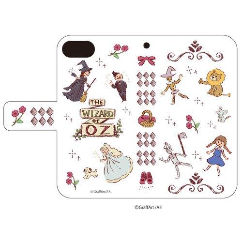 手帳型スマホケース(iPhone6/6s/7/8兼用)「童話シリーズ」02/オズのまほうつかい(グラフアートデザイン)