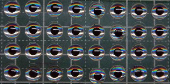 3Dルアーアイ 6mm 32個 ノーマルタイプ ホログラムベース
