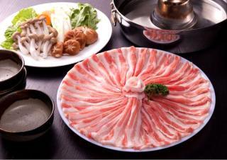 脂身があっさり旨い!芳寿豚の上バラフワフワしゃぶしゃぶ肉!【しゃぶしゃぶ用バラ500g】