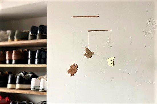 鳥モビール 3羽