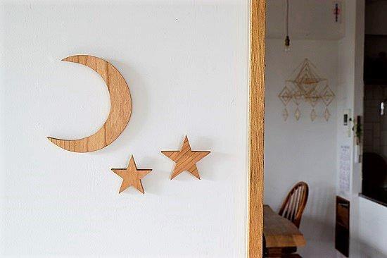 月と星のオブジェ