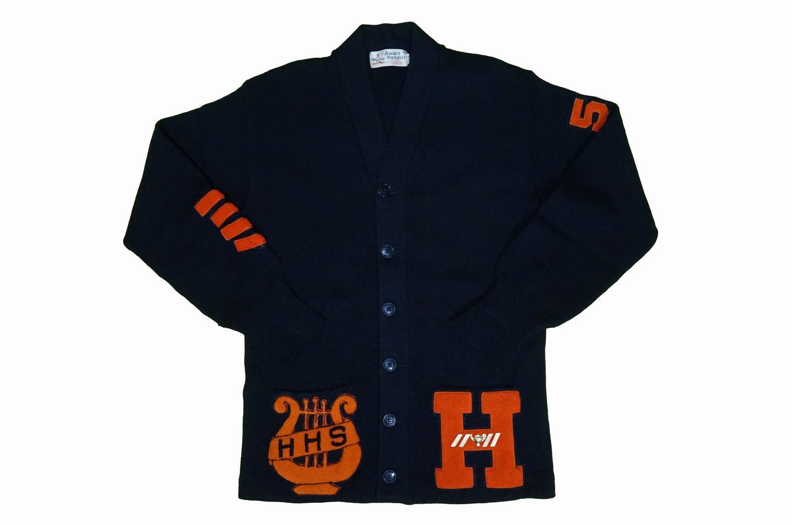 50年代 Wigwam Lettered Cardigan BLACK