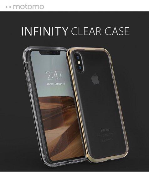 652905d1af <motomo(モトモ)>【iPhone XR 6.1インチ】 INFINITY CLEAR CASE 透明なソフトクリアケースにバンパー部分は iPhoneに似合うスタイリッシュなカラー
