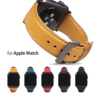 SLG Design Apple Watch バンド Italian Minerva Box Leather 44mm(Series 4/5/6/SE) 42mm(Series 1, 2, 3 対応)