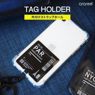 国内正規品 araree TAG HOLDER 外付けストラップホール スマートフォンの機種に左右されず、ストラップホールを外付けで搭載できるストラップホルダー