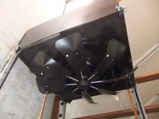 国内製造品 トーカイデザイン エコエコファン ロータリー式 8枚羽エアコン風よけ&省エネ対策 天井埋込型エアコン用 アネモ用