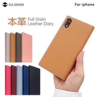 国内正規品 SLG Design iPhone12/12Pro(6.1インチ)手帳型 Full Grain Leather Case 牛革にキメ細かいシボ加工施した上品で高級