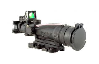 Trijicon ACOG 3.5x35 Scope, Dual Illuminated Red Dot 9.0 MOA RMR Sight and LaRue Tactical Mount