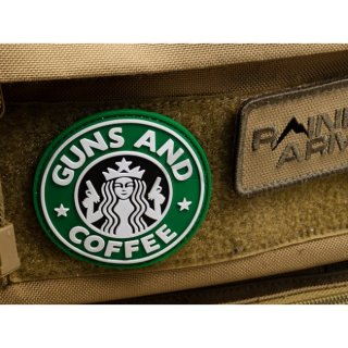 Fortis Mfg Guns and Coffee - 3D Rubber Moral Patch フォーティス製パロディーパッチ