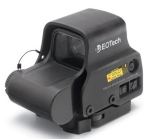 EOTech EXPS3-2 Holographic Red Dot Sight, A65 Ring/Two 1moa Dots Reticle