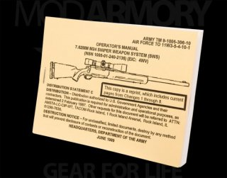 Operator's Manual 7.62 M24 Sniper Weapon System (SWS)