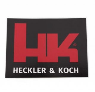 Factory Heckler & Koch Logo Decal In Black & Red  実物 H&Kステッカー □