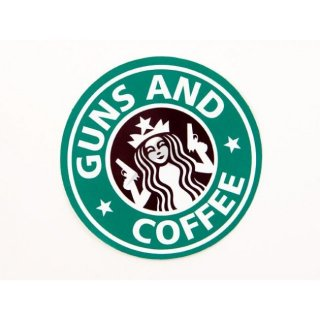 Rainier Arms Guns and Coffee - Vinyl Sticker