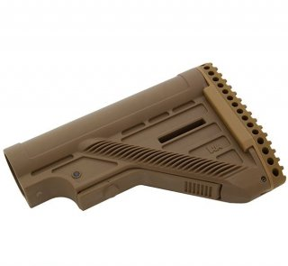 HK MR762, HK 417 Slim Line Retractable Stock- Tan H&K製