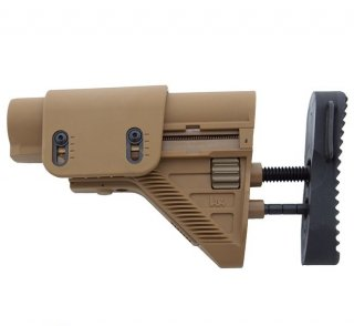 G28 Adjustable Buttstock - Tan H&K製 HK417/G28専用ストック TAN