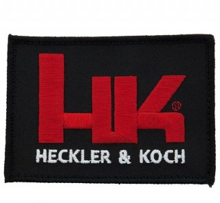Factory HK Black & Red Patch With Full Velcro Back 実物 H&Kパッチ