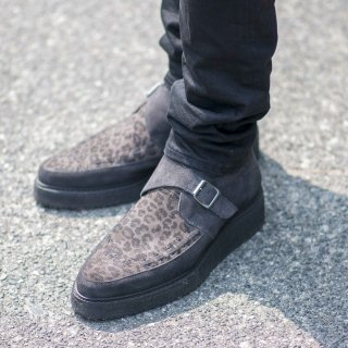 <img class='new_mark_img1' src='//img.shop-pro.jp/img/new/icons3.gif' style='border:none;display:inline;margin:0px;padding:0px;width:auto;' />ALLSAINTS RUBBER SOLE BOOTS GRAY LEOPARD (オールセインツ ラバーソールブーツ グレー レオパード)