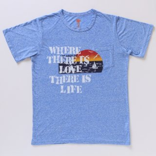 <img class='new_mark_img1' src='https://img.shop-pro.jp/img/new/icons3.gif' style='border:none;display:inline;margin:0px;padding:0px;width:auto;' />MBW apparel THERE IS LOVE T-SHIRTS WATERBLUE (エムビーダブリューアパレル ウェアイズラブ Tシャツ 水色)