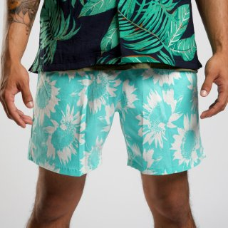 <img class='new_mark_img1' src='//img.shop-pro.jp/img/new/icons3.gif' style='border:none;display:inline;margin:0px;padding:0px;width:auto;' />ILLCOMMONS BEACH FLOWER SHORTS GREEN(イルコモンズ  ビーチフラワーショーツ グリーン)