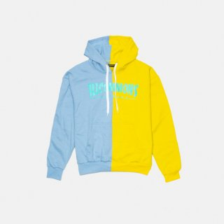 <img class='new_mark_img1' src='https://img.shop-pro.jp/img/new/icons3.gif' style='border:none;display:inline;margin:0px;padding:0px;width:auto;' />ILLCOMMONS MAGAZINE HOODIE YELLOW BLUE (イルコモンズ マガジンパーカー イエロー ブルー)