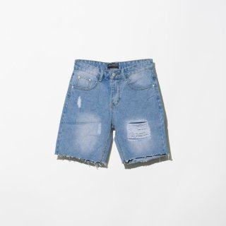 <img class='new_mark_img1' src='//img.shop-pro.jp/img/new/icons3.gif' style='border:none;display:inline;margin:0px;padding:0px;width:auto;' />ILLCOMMONS CRASH DENIM SHORTS BLUE(イルコモンズ クラッシュデニムショーツ ブルー)
