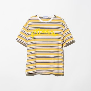 <img class='new_mark_img1' src='https://img.shop-pro.jp/img/new/icons3.gif' style='border:none;display:inline;margin:0px;padding:0px;width:auto;' />ILLCOMMONS SAND WAVE BORDER T-SHIRTS YELLOW(イルコモンズ サンドウェーブ Tシャツ イエロー)