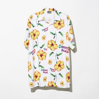 <img class='new_mark_img1' src='https://img.shop-pro.jp/img/new/icons3.gif' style='border:none;display:inline;margin:0px;padding:0px;width:auto;' />ILLCOMMONS BEACH ALOHA  S/S SHIRTS  WHITE LONG(イルコモンズ ビーチアロハシャツ ホワイト ロング)
