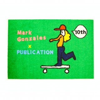 <img class='new_mark_img1' src='//img.shop-pro.jp/img/new/icons3.gif' style='border:none;display:inline;margin:0px;padding:0px;width:auto;' />MARK GONZALES×PUBLICATION 10th.ANNIVERSARY LOGO MAT  GREEN( マークゴンザレス×パブリケーション 10周年記念 コラボ マット グリーン)