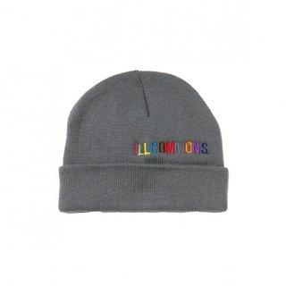 <img class='new_mark_img1' src='https://img.shop-pro.jp/img/new/icons3.gif' style='border:none;display:inline;margin:0px;padding:0px;width:auto;' />ILLCOMMONS MULTI COLOR LOGO KNITCAP DARKGRAY(イルコモンズ マルチカラーロゴニットキャップ ダークグレー)
