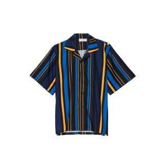 <img class='new_mark_img1' src='https://img.shop-pro.jp/img/new/icons3.gif' style='border:none;display:inline;margin:0px;padding:0px;width:auto;' />ILLCOMMONS MULTICOLOR STRAIPE S/S SHIRTS BLUE (イルコモンズ  マルチカラーストライプシャツ ブルー)