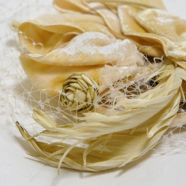 CA4LA Bridal (カシラブライダル)<br>羽根とハットピン (No.SHI00511) ヘッドドレス (全2色)<br>aotei00573