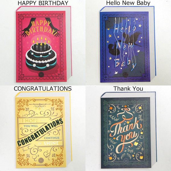 amabro アマブロ<br>EMBROIDERY MESSAGE CARD<br>ottei01554