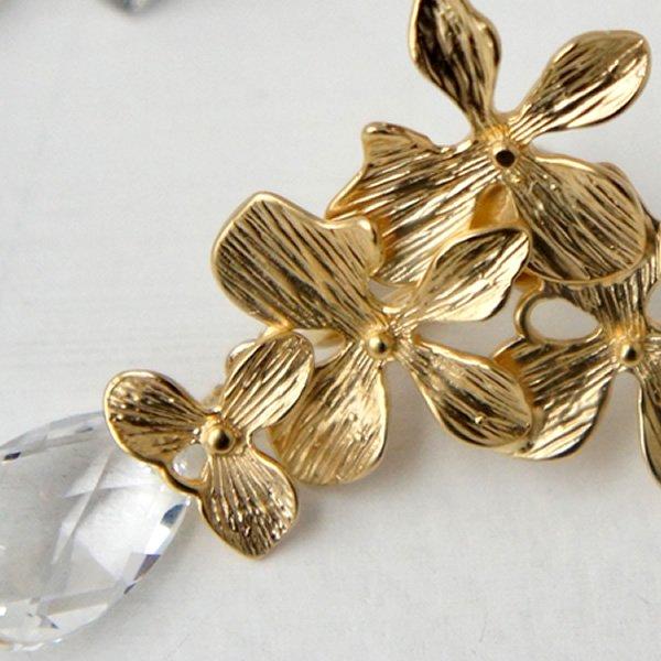 tamara (タマラ)<br>TER-080 紫陽花とクリスタルのイヤリング (全2色)<br>aitei00971