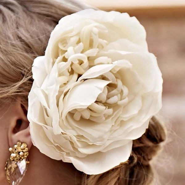 SOIE:LABO × Cli'O mariage (ソワ・ラボ×クリオマリアージュ)<br>SLCM18_008 芍薬のヘッドドレス【一点物】<br>aotei00635
