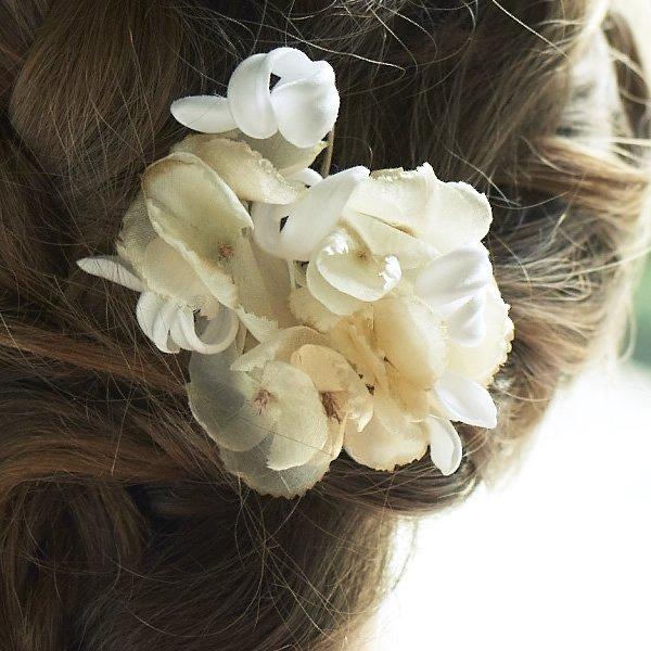 la fleur (ラフルール)<br>ふたつの花のヘッドアクセサリー<br>aotei00653