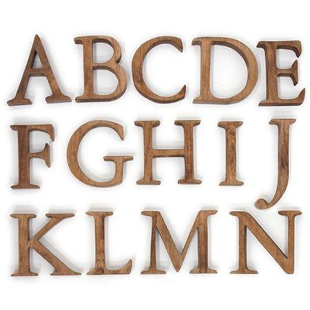 Cli'O mariage (クリオマリアージュ)<br>無垢材木製アルファベット切文字 (Sサイズ)<br>ot定番01307