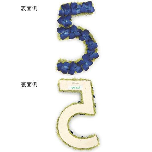 【オーダー】Cui Cui × Cli'O mariage (キュイキュイ×クリオマリアージュ)<br>花文字 数字18cm【受注生産/お届けまで約2週間/前払い】<br>ot定番01448