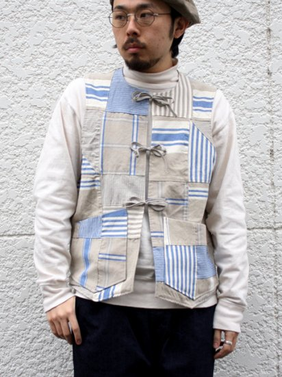 "<img class='new_mark_img1' src='https://img.shop-pro.jp/img/new/icons13.gif' style='border:none;display:inline;margin:0px;padding:0px;width:auto;' />monitaly ""Cincho Vest PATCHWORK"""