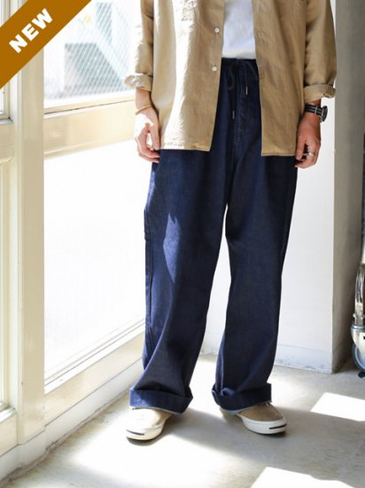 "HATSKI(ハツキ)""Stitch Wide Easy Pants DENIM"""