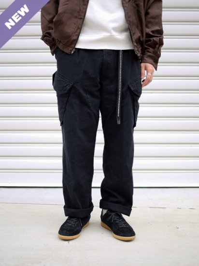 ROYAL NAVY CARGO TROUSERS -BLACK OVER DYE-