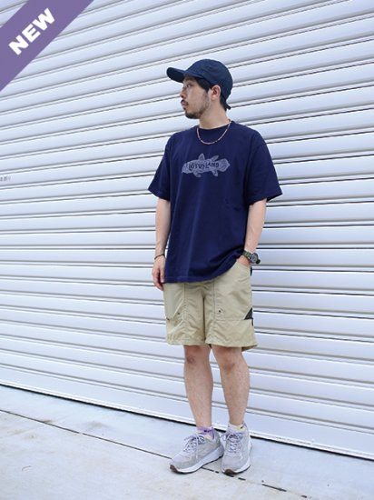 "LOTUS LAND ""LOTUS LAND TEE(NAVY)"""