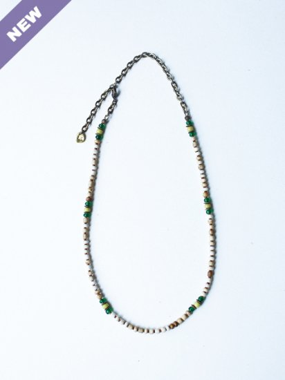 """MEL """"2way Necklace(WHITE×GREEN)"""""""