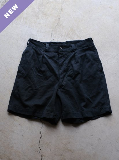 "DEADSTOCK ""50's~60's  M-52 French Military Chino  Shorts-BLACK OVER DYE"""