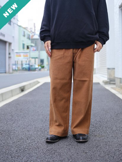 "HATSKI ""Uncut 2Tuck Wide Trousers"""