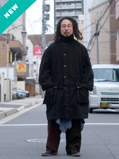 スウェーデン軍 M-59 FIELD COAT -BLACK OVER DYE-