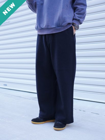 "HATSKI ""Stitch Wide Easy Trousers-Wool Flannel-"""