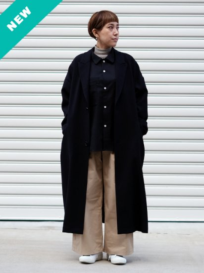 "manon ""PEAKED LAPEL BIG COAT"""