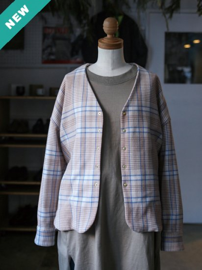 "manon ""ORIGINAL WOOL CHECK V-NECK JKT"""