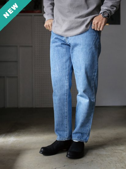 "HATSKI ""Loose Tapered Denim Used -Ice Blue-"""