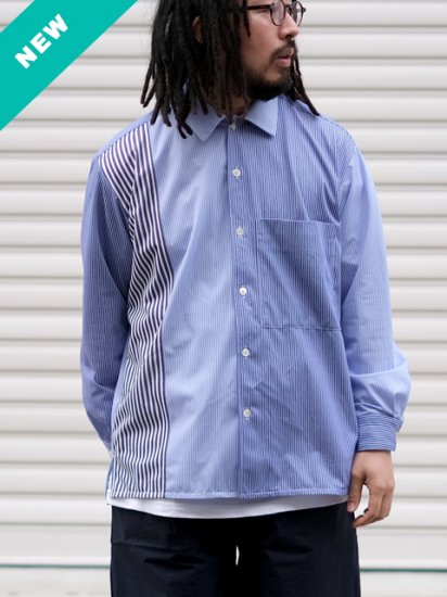 """CURLY """"CLOUDY L/S SHIRTS (Panel Stripe)"""""""